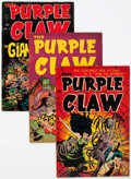 Golden Age (1938-1955):Horror, Purple Claw #1-3 Complete Series Group (Minoan Publishing Co.,1953).... (Total: 3 Comic Books)