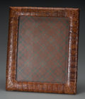 Decorative Arts, Continental:Other , A Cuban Crocodile Hide Picture Frame, mid-20th century. Marks:MADE IN CUBA. 17 inches high x 14-1/8 inches wide (43.2 x...