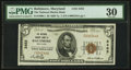 National Bank Notes:Maryland, Baltimore, MD - $5 1929 Ty. 1 The National Marine Bank Ch. # 2453....