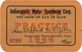 Miscellaneous Collectibles:General, 1946 Indianapolis 500 Practice Pass....