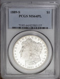 Morgan Dollars: , 1889-S $1 MS64 Prooflike PCGS. This is one of the few Morgan dollars with a mintage figure un...