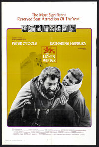 """The Lion in Winter (Columbia, 1968). One Sheet (27"""" X 41""""). Historical Drama"""