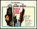 "Movie Posters:War, Behold a Pale Horse (Columbia, 1964). Half Sheet (22"" X 28""). War...."