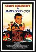 "Movie Posters:James Bond, Never Say Never Again (Warner Brothers, 1983). Australian One Sheet(27"" X 40""). James Bond. ..."