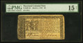 Colonial Notes:Maryland, Maryland March 1, 1770 $6 PMG Choice Fine 15 Net.. ...