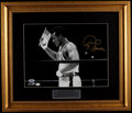 Boxing Collectibles:Autographs, George Foreman Signed Oversized Photograph....