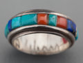 American Indian Art:Jewelry and Silverwork, A Hopi Silver, Gold and Stone Ring. Charles Loloma. c. 1980...