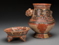 Pre-Columbian:Ceramics, Two Costa Rica Polychrome Vessels. c. 600 - 800 AD and 400 BC - 200AD... (Total: 2 Items)