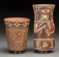 Pre-Columbian:Ceramics, Two Nazca Polychrome Vessels. c. 200 BC - 200 AD ... (Total: 2Items)