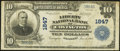 National Bank Notes:Kentucky, Covington, KY - $10 1902 Plain Back Fr. 632 The Liberty NB Ch. #1847. ...