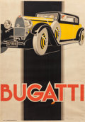 Decorative Arts, Continental:Other , Seven Bugatti Model Toys and Four Bugatti Posters, 20th century.54-1/2 inches high x 38-1/4 inches wide (138.4 x 97.2 cm) (...(Total: 11 Items)