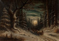 Fine Art - Painting, American:Modern  (1900 1949)  , Carrie Lutcher (American, 1861-1941). Nocturnal Landscape.Oil on canvas. 13-1/2 x 19 inches (34.3 x 48.3 cm). ...