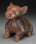 Pre-Columbian:Ceramics, A Colima Crouching Dog . c. 200 BC - 200 AD ...