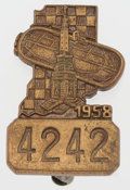 Miscellaneous Collectibles:General, 1958 Indianapolis 500 Pit Access Pin....