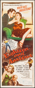 """Movie Posters:Exploitation, Eighteen and Anxious (AB-PT Pictures, 1957). Insert (14"""" X 36"""").Exploitation.. ..."""
