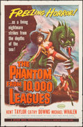 "Movie Posters:Science Fiction, The Phantom from 10,000 Leagues (American Releasing Corp., 1955).One Sheet (27"" X 41""). Science Fiction.. ..."