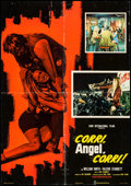 "Movie Posters:Exploitation, Run, Angel, Run! (Fanfare, 1970). Italian Foglio (25.5"" X 37"").Exploitation.. ..."