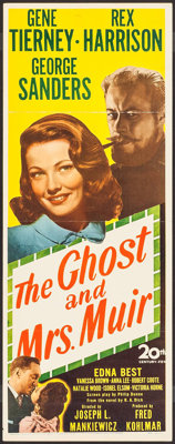 "The Ghost and Mrs. Muir (20th Century Fox, 1947). Insert (14"" X 36""). Romance"