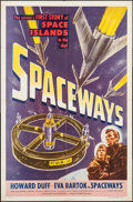 """Movie Posters:Science Fiction, Spaceways (Lippert, 1953). One Sheet (27"""" X 41""""). Science Fiction.. ..."""