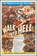 "Movie Posters:Adventure, Walk into Hell (Patric, 1957). One Sheet (27"" X 41""). Adventure.. ..."
