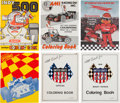 Miscellaneous Collectibles:General, 1970-1990 Racing Coloring Books Lot of 6....