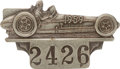 Miscellaneous Collectibles:General, 1959 Indianapolis 500 Silver Badge. ...