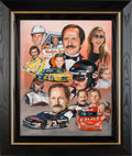 "Miscellaneous Collectibles:General, 2000's ""The Earnhardt Legacy"" Original Artwork by George Wright...."