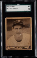 Baseball Cards:Singles (1940-1949), 1940 Play Ball Ted Williams #27 SGC 20 Fair 1.5....