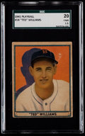 Baseball Cards:Singles (1940-1949), 1941 Play Ball Ted Williams #14 SGC 20 Fair 1.5....