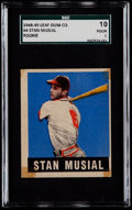 Baseball Cards:Singles (1940-1949), 1948 Leaf Stan Musial #4 SGC 10 Poor 1....