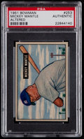 Baseball Cards:Singles (1950-1959), 1951 Bowman Mickey Mantle #253 PSA Authentic....