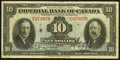 Canadian Currency: , Toronto, ON- Imperial Bank of Canada $10 Jan. 3, 1939 Ch. #375-24-04. ...