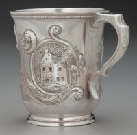 A William Gale & Son Coin Silver Cup, New York, New York , circa 1852 Marks: W. G. & S, (double marked
