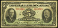 Canadian Currency: , Toronto, ON- Imperial Bank of Canada $5 Jan. 3, 1939 Ch. #375-24-02. ...