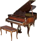 Decorative Arts, Continental:Other , A Carl Bechstein Mahogany, Rosewood and Gilt Bronze-Mounted GrandPiano and Bench, Berlin, Germany, circa 1900-1901. Marks: ...(Total: 2 Items)