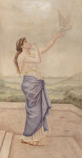 Fine Art - Painting, American:Antique  (Pre 1900), M.A. Anderman (American, 19th Century). Calliope, 1894.Tempera(?) over pencil on canvas. 61 x 35 inches (154.9 x 88...(Total: 2 Items)