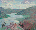Fine Art - Painting, American:Modern  (1900 1949)  , Walter King Stone (American, 1875-1949). Ithaca, New York,1944. Oil on masonite. 25 x 30 inches (63.5 x 76.2 cm). Signe...