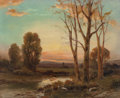 Fine Art - Painting, American:Modern  (1900 1949)  , Angel Espoy (American, 1879-1963). Sunset at the River. Oilon canvas. 16 x 20 inches (40.6 x 50.8 cm). Signed lower rig...