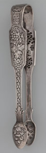Silver Flatware, British:Flatware, A Pair of John Smyth Victorian Irish Silver Sugar Tongs, Dublin,Ireland, circa 1850. Marks: (Hibernia), (harp crowned), e...
