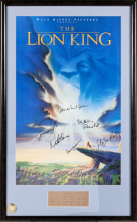 The Lion King Signed Movie Poster Walt Disney 1994 Lot 97247 Heritage Auctions