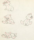 Animation Art:Production Drawing, Pinocchio Figaro Character Development Drawing Group of 5(Walt Disney, 1940).... (Total: 5 Original Art)