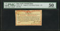 Colonial Notes:New York, New York August 2, 1775 (Water Works) 8s PMG About Uncirculated50.. ...