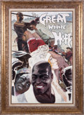 "Movie/TV Memorabilia:Original Art, A John DeCuir Oil Painting from ""The Great White Hope.""..."