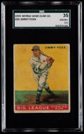 Baseball Cards:Singles (1930-1939), 1933 World Wide Gum Jimmy Foxx #29 SGC 35 Good+ 2.5....