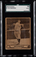 Baseball Cards:Singles (1940-1949), 1940 Play Ball Joe DiMaggio #1 SGC 10 Poor 1....