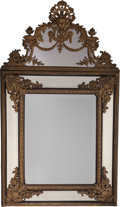 Decorative Arts, French:Other , An Italian Baroque-Style Gilt Bronze Mirror Frame, 19th century. 72h x 41 w inches (182.9 x 104.1 cm). ...
