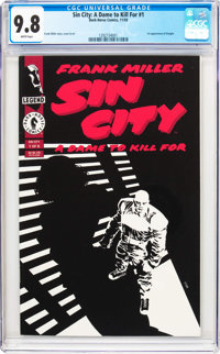 Sin City: A Dame to Kill For #1 (Dark Horse, 1993) CGC NM/MT 9.8 White pages
