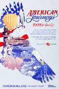 "Animation Art:Poster, Tokyo Disneyland Park Entrance Poster ""American Journeys""Tomorrowland (Walt Disney, 1984)...."