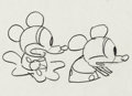 Animation Art:Production Drawing, Plane Crazy Mickey and Minnie Mouse Animation Drawing (Walt Disney, 1929)....