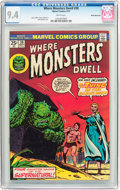 Bronze Age (1970-1979):Horror, Where Monsters Dwell #30 White Mountain Pedigree (Marvel, 1974) CGCNM 9.4 White pages....